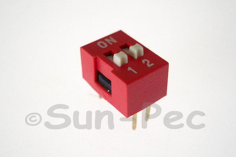 DIP Switch Solder Type 2 position 5pcs - 20pcs