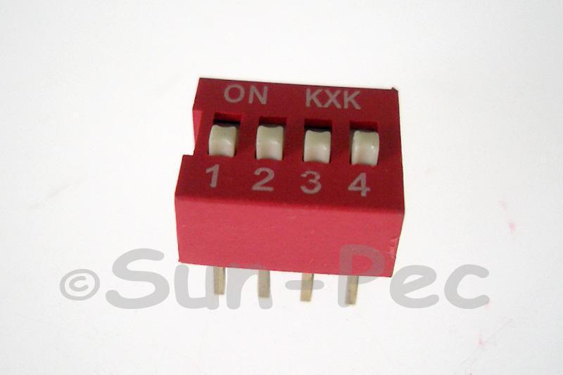 DIP Switch Solder Type 4 position 5pcs - 20pcs
