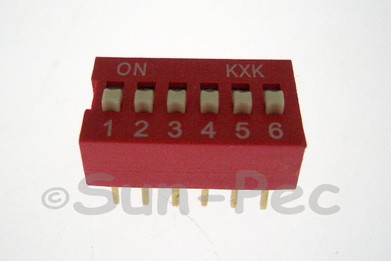 DIP Switch Solder Type 6 position 5pcs - 10pcs