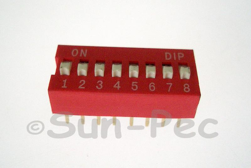 DIP Switch Solder Type 8 position 5pcs - 10pcs