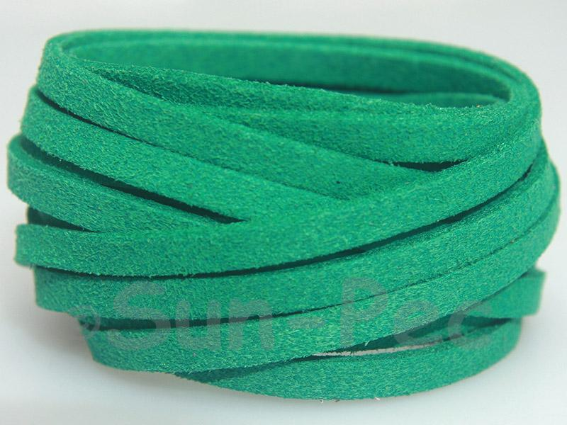 Dark Green 5mm Flat Faux Suede Lace Leather Cord 1 meter 1pcs - 10pcs
