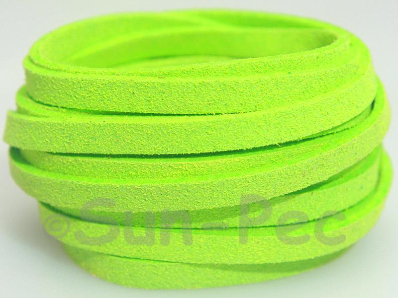Emerald green 5mm Flat Faux Suede Lace Leather Cord 1 meter 1pcs - 10pcs