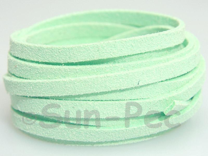 Mint Green 5mm Flat Faux Suede Lace Leather Cord 1 meter 1pcs - 10pcs