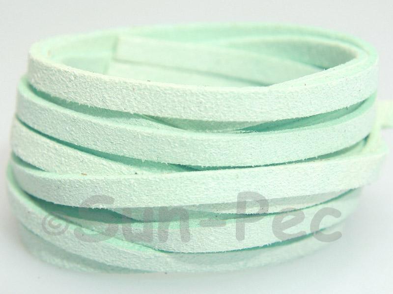 Pale Blue 5mm Flat Faux Suede Lace Leather Cord 1 meter 1pcs - 10pcs