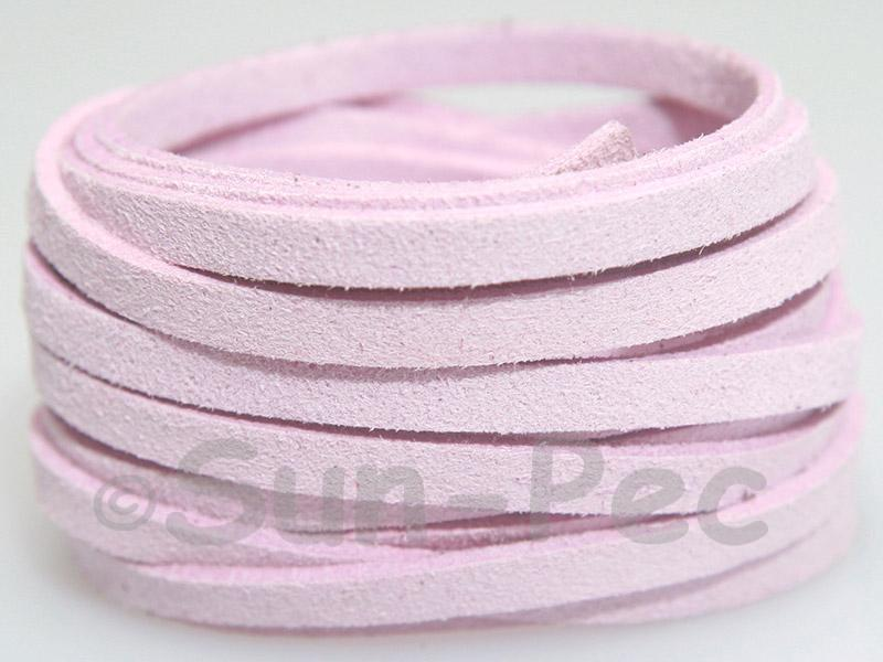 Pale Purple 5mm Flat Faux Suede Lace Leather Cord 1 meter 1pcs - 10pcs