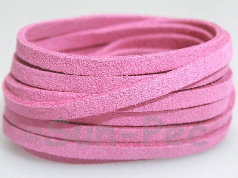 Red violet 5mm Flat Faux Suede Lace Leather Cord 1 meter 1pcs - 10pcs