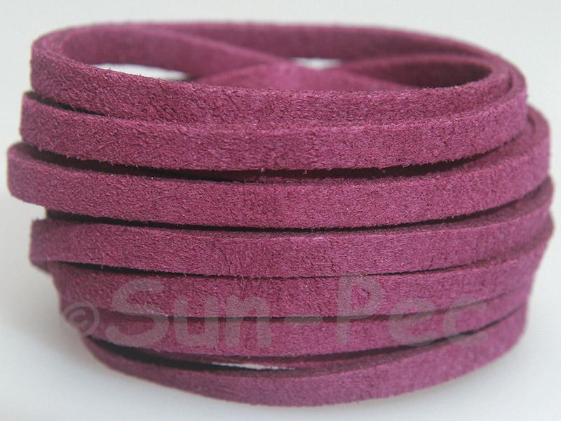 Violet 5mm Flat Faux Suede Lace Leather Cord 1 meter 1pcs - 10pcs