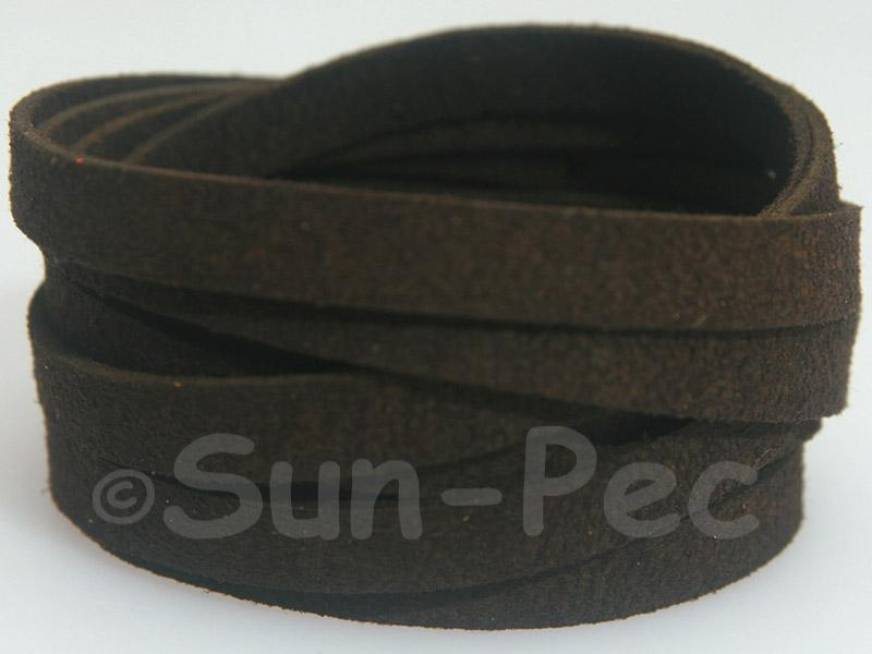 Black coffee 8mm Flat Faux Suede Lace Leather Cord 1 meter 1pcs - 10pcs