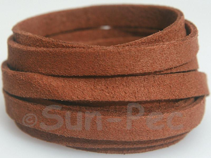 Coffee 8mm Flat Faux Suede Lace Leather Cord 1 meter 1pcs - 10pcs