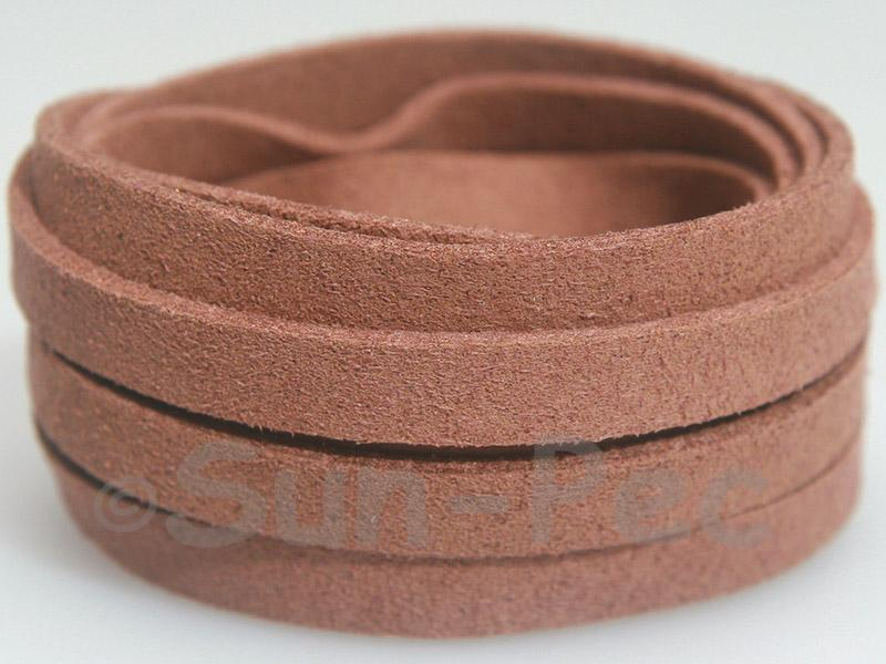Camel 8mm Flat Faux Suede Lace Leather Cord 1 meter 1pcs - 10pcs