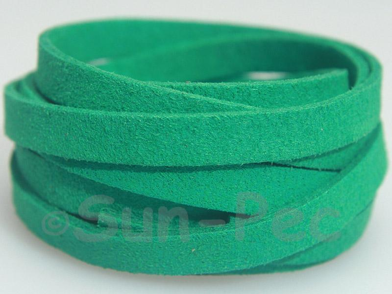 Dark Green 8mm Flat Faux Suede Lace Leather Cord 1 meter 1pcs - 10pcs