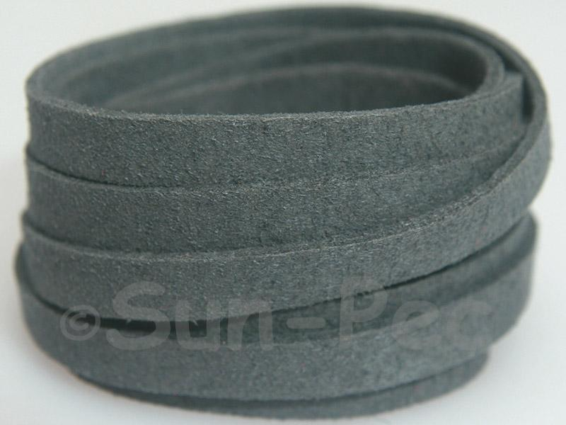 Dark gray 8mm Flat Faux Suede Lace Leather Cord 1 meter 1pcs - 10pcs