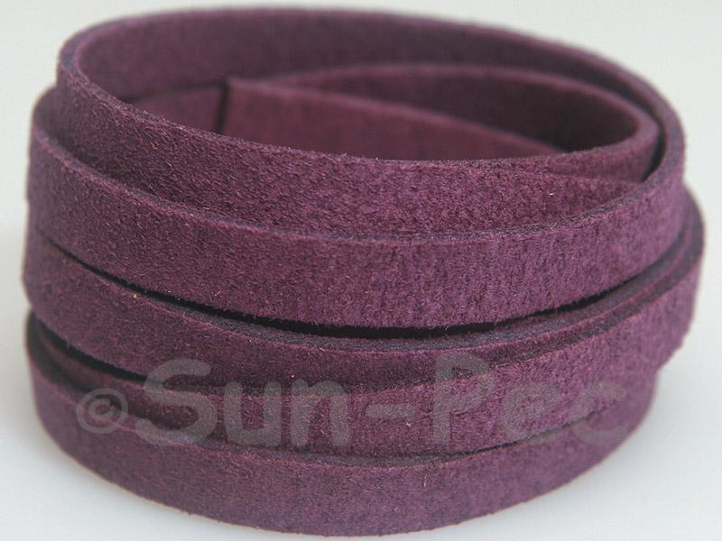 Deep Purple 8mm Flat Faux Suede Lace Leather Cord 1 meter 1pcs - 10pcs