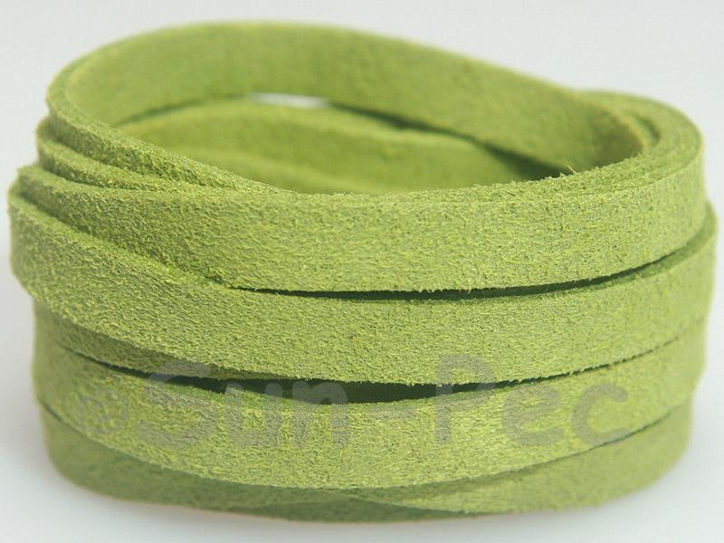 Grass Green 8mm Flat Faux Suede Lace Leather Cord 1 meter 1pcs - 10pcs