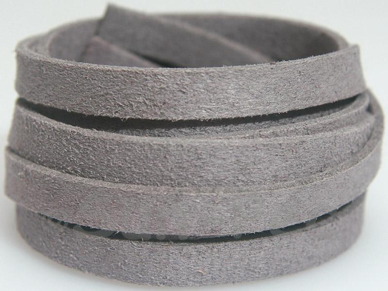 Light gray 8mm Flat Faux Suede Lace Leather Cord 1 meter 1pcs - 10pcs