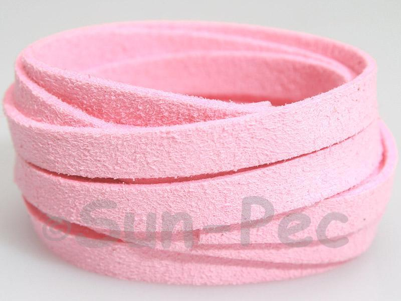 Light Pink 8mm Flat Faux Suede Lace Leather Cord 1 meter 1pcs - 10pcs