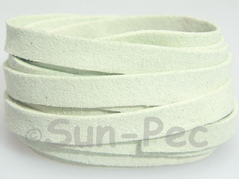 Pale Blue 8mm Flat Faux Suede Lace Leather Cord 1 meter 1pcs - 10pcs