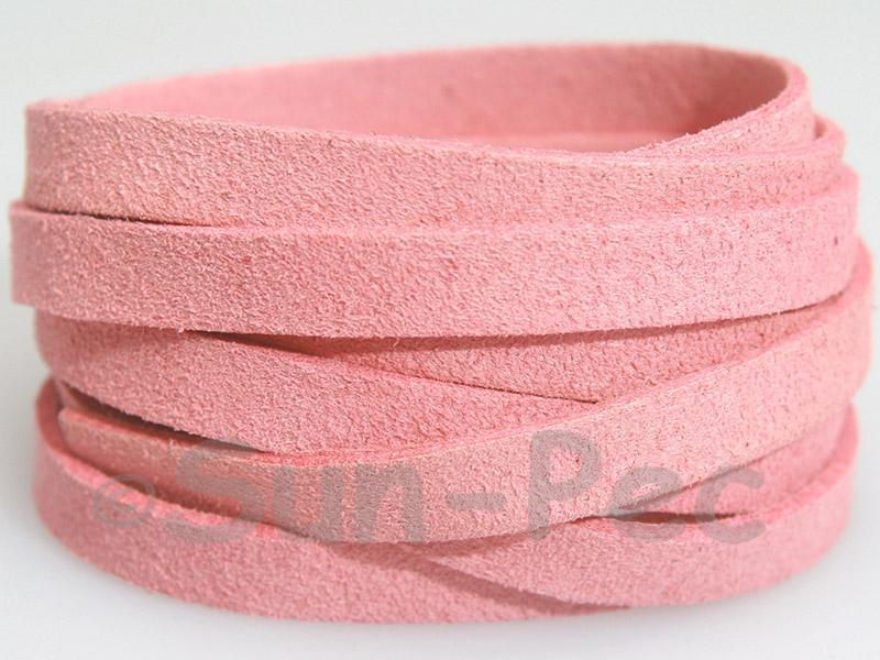 Pink 8mm Flat Faux Suede Lace Leather Cord 1 meter 1pcs - 10pcs