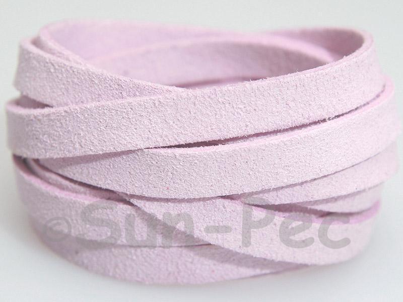 Pale Purple 8mm Flat Faux Suede Lace Leather Cord 1 meter 1pcs - 10pcs