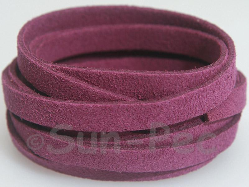 Violet 8mm Flat Faux Suede Lace Leather Cord 1 meter 1pcs - 10pcs
