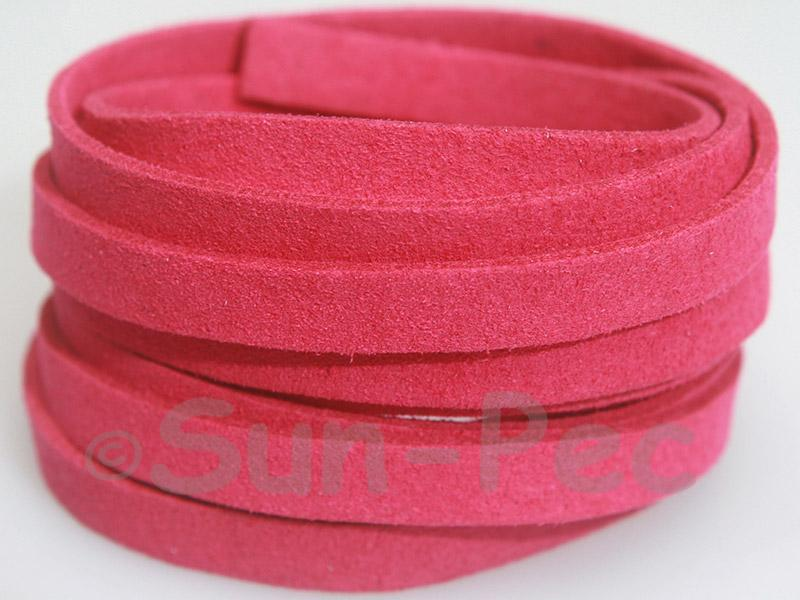 Wine Red 8mm Flat Faux Suede Lace Leather Cord 1 meter 1pcs - 10pcs