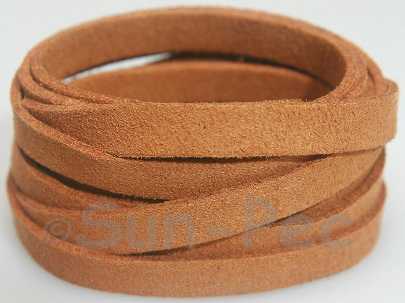 Yellow Coffee 8mm Flat Faux Suede Lace Leather Cord 1 meter 1pcs - 10pcs