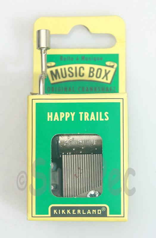 Happy Trails Kikkerland Wind-Up Hand Crank Music Box 1pcs