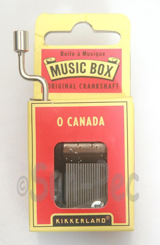 O Canada Kikkerland Wind-Up Hand Crank Music Box 1pcs