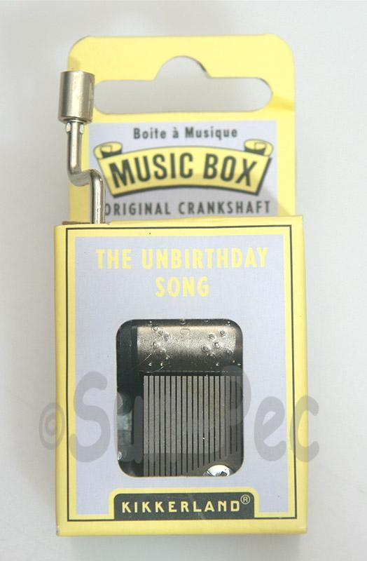 The Unbirthday Song Kikkerland Wind-Up Hand Crank Music Box 1pcs