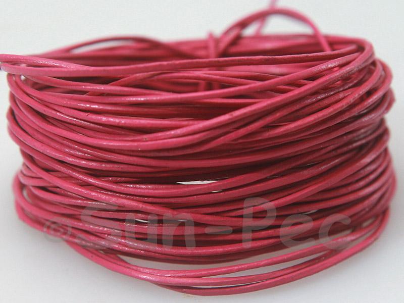 Rose 1mm Round Genuine Hide Leather Cord 1m - 8m