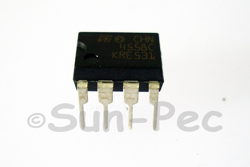 MC4558 ST Wide bandwidth dual bipolar operational amplifier CHN4558C ±22V DIP-8 2pcs