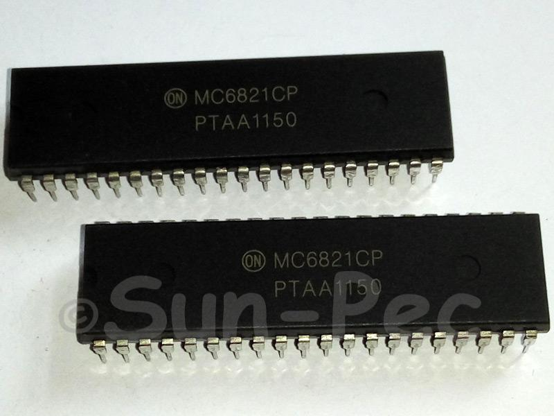 MC6821CP ON Semi PERIPHERAL INTERFACE ADAPTER -3V to 7V DIP-40 1pcs
