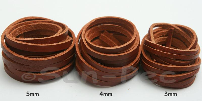 Flat-Genuine-Hide-Leather-Cord-Thong-DIY-Jewelry-Crafts-3mm-4mm-5mm-options