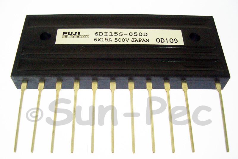 6DI15S-050D FUJI 6 CHANNEL POWER TRANSISTOR 500V 60W 6 x 15A NPN 1pcs