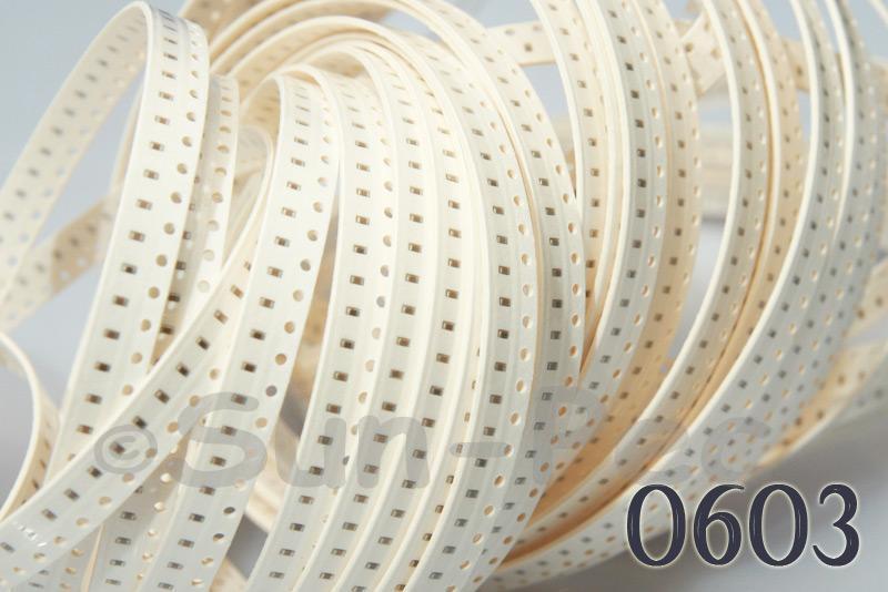 0603 SMD Chip Ceramic Capacitor 50V NPO X7R Y5V 1pF - 1uF choices 100pcs
