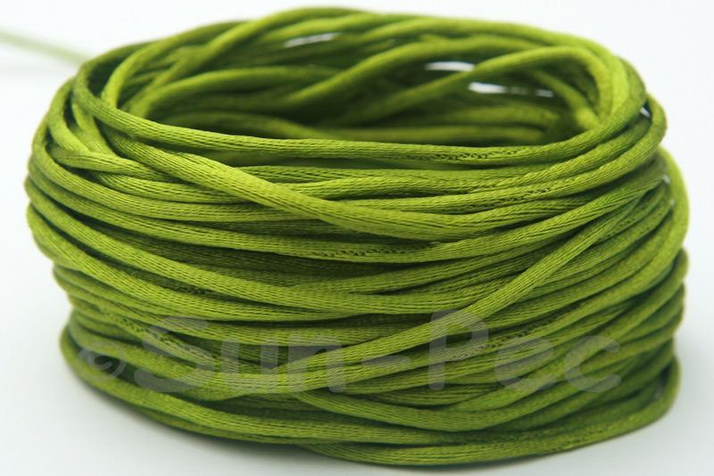 Army Green 1.5mm Satin Rattail Knotting Cord 5m - 50m