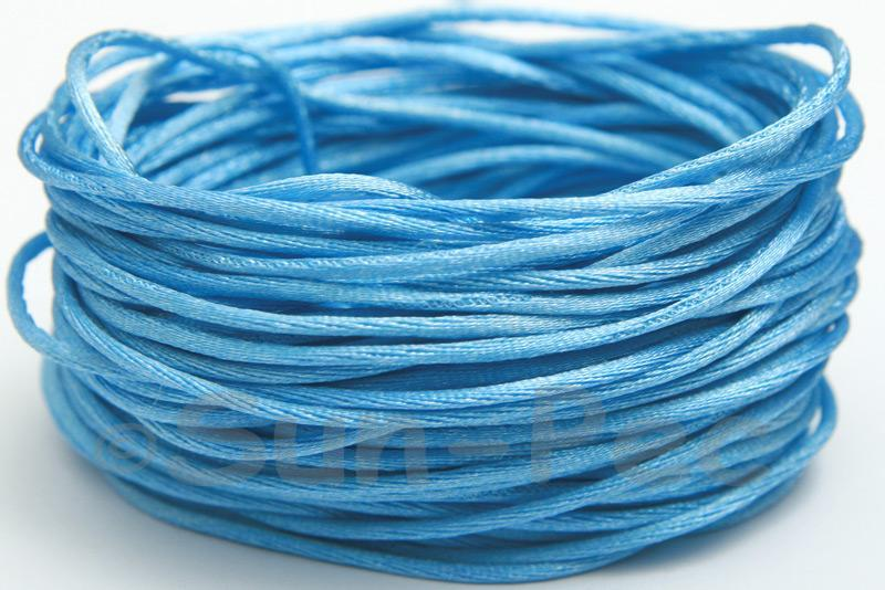Blue 1.5mm Satin Rattail Knotting Cord 5m - 50m