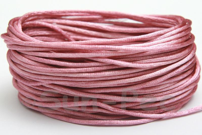 Dusty Mauve 1.5mm Satin Rattail Knotting Cord 5m - 50m