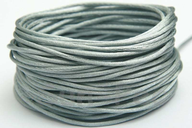 Grey 1.5mm Satin Rattail Knotting Cord 5m - 50m