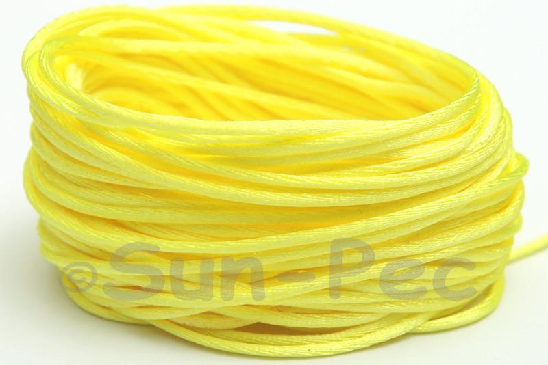 Light Yellow 1.5mm Satin Rattail Knotting Cord 5m - 50m