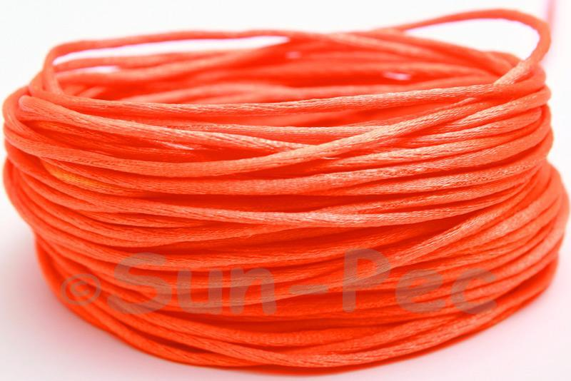 Orange 1.5mm Satin Rattail Knotting Cord 5m - 50m