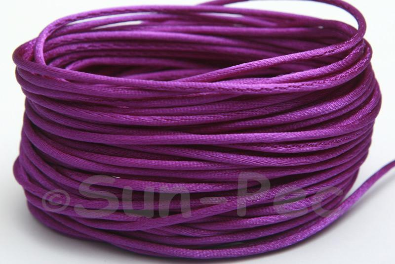 Purple 1.5mm Satin Rattail Knotting Cord 5m - 50m