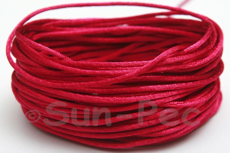 Ruby 1.5mm Satin Rattail Knotting Cord 5m - 50m