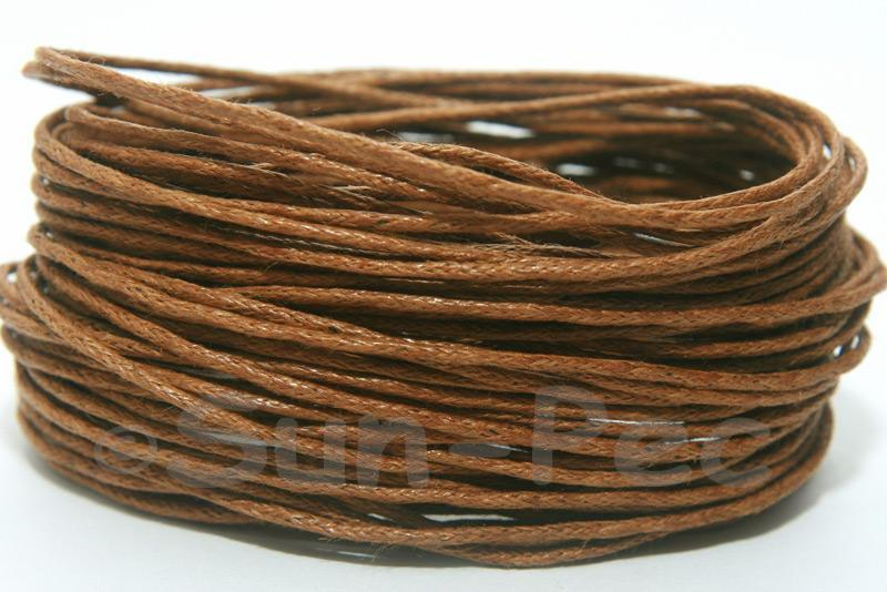 Sepia 1mm Smooth Coated Hemp Cord 5m - 60m