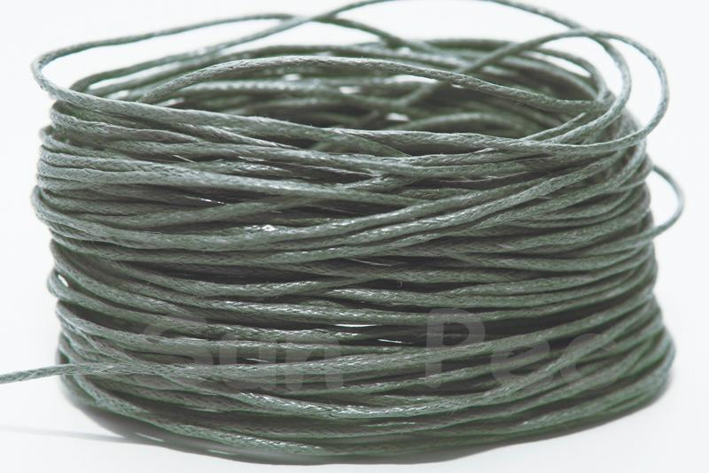 Grey 1mm Smooth Coated Hemp Cord 5m - 60m