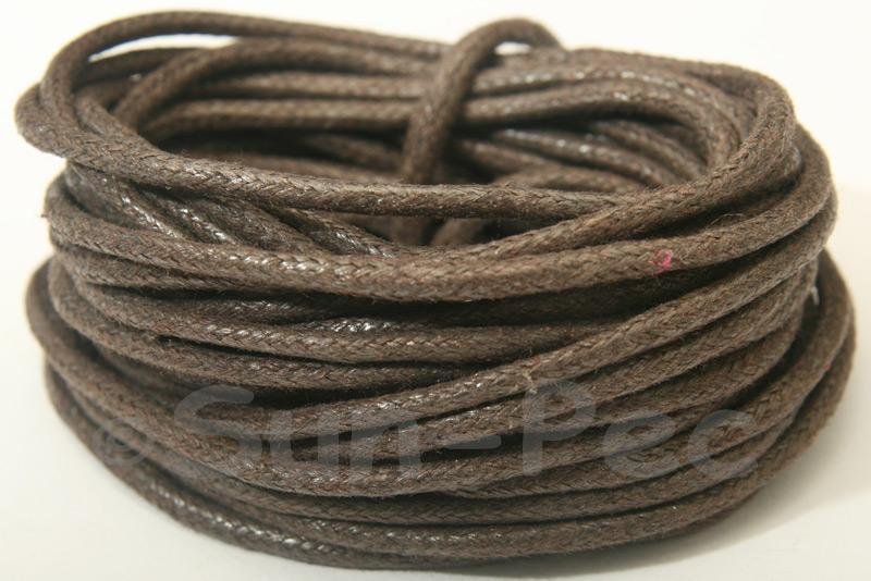 Dark Brown 2mm Smooth Coated Hemp Cord 2m - 50m