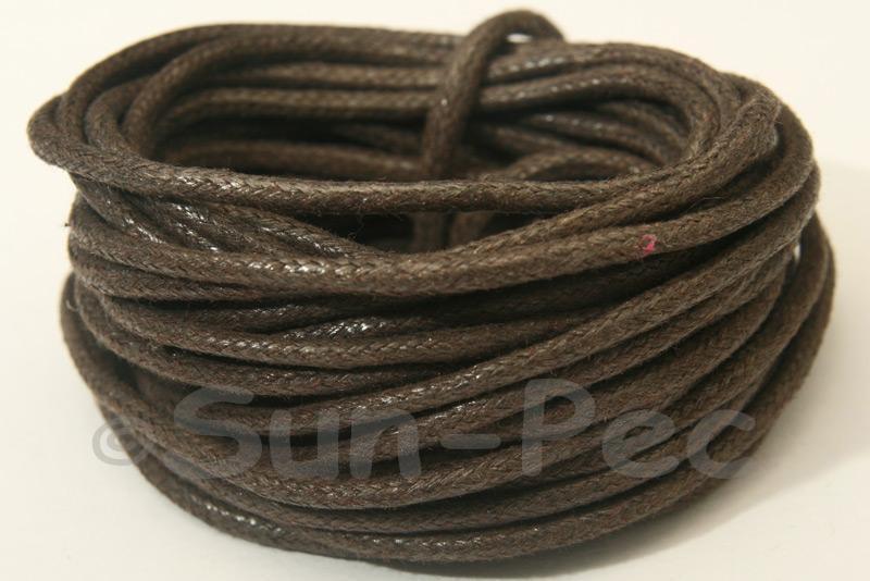 Dark Coffee 2mm Smooth Coated Hemp Cord 2m - 50m