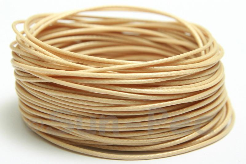Beige 1mm Coated Polyester Cord (snakeskin style) 5m - 30m