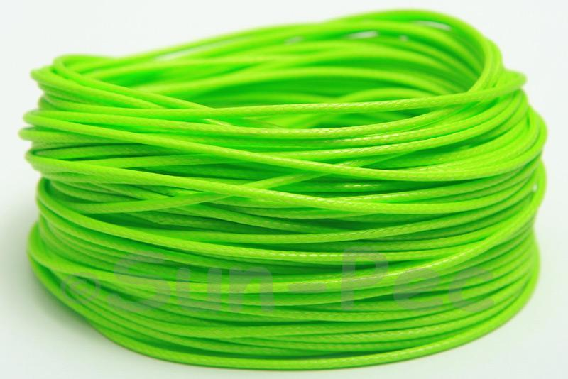 Bright Green 1mm Coated Polyester Cord (snakeskin style) 5m - 50m