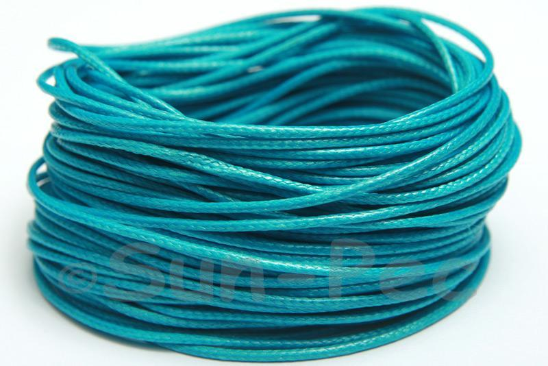Blue 1mm Coated Polyester Cord (snakeskin style) 5m - 50m